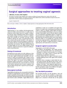 Surgical approaches to treating vaginal agenesis - Wiley Online Library