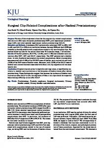 Surgical Clip-Related Complications after Radical Prostatectomy