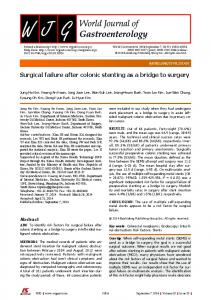 Surgical failure after colonic stenting as a bridge to surgery