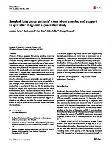Surgical lung cancer patients' views about smoking
