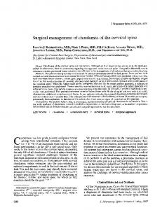 Surgical management of chordomas of the cervical spine