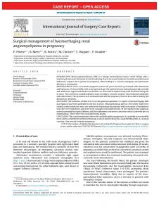 Surgical management of haemorrhaging renal angiomyolipoma ... - Core