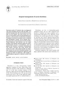 Surgical management of sacral chordoma