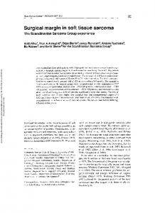 Surgical margin in soft tissue sarcoma The ...