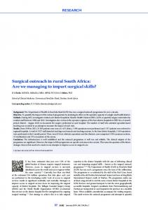 Surgical outreach in rural South Africa: Are we ... - Semantic Scholar