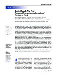 Surgical Results from Total Transatrial