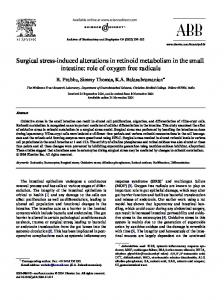 Surgical stress-induced alterations in retinoid metabolism in the small ...