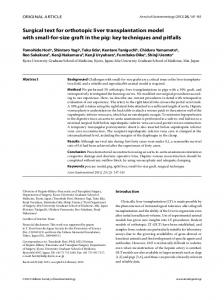 Surgical text for orthotopic liver transplantation ... - Semantic Scholar