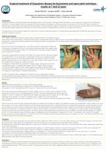 Surgical treatment of Dupuytren disease by ...