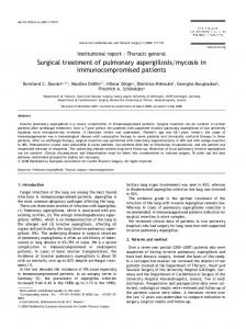 Surgical treatment of pulmonary aspergillosisymycosis in ...