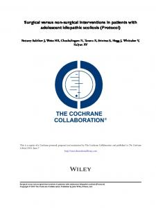Surgical versus non-surgical interventions in ... - Wiley Online Library