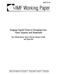 Surging Capital Flows to Emerging Asia - IMF