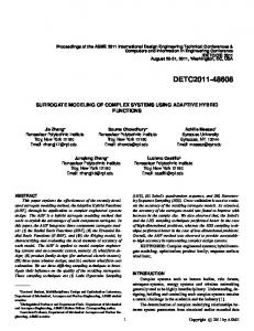 Surrogate Modeling of Complex Systems Using Adaptive ... - UT Dallas