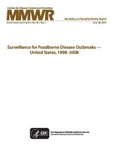 Surveillance for Foodborne Disease Outbreaks - Centers for Disease ...