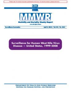 Surveillance for Human West Nile Virus Disease - Centers for Disease ...