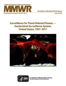 Surveillance for Travel-Related Disease - Centers for Disease Control ...