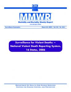 Surveillance for Violent Deaths - Centers for Disease Control and ...