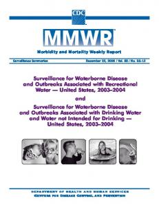 Surveillance for Waterborne Disease and Outbreaks ... - CDC