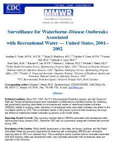 Surveillance for Waterborne-Disease Outbreaks ... - CiteSeerX