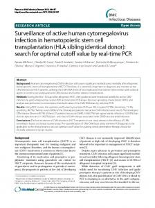 Surveillance of active human cytomegalovirus infection in ...