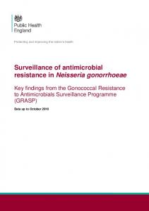 Surveillance of antimicrobial resistance in Neisseria ...