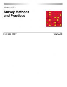 Survey Methods and Practices