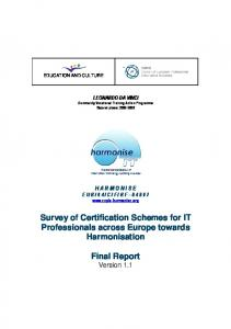 Survey of Certification Schemes for IT Professionals