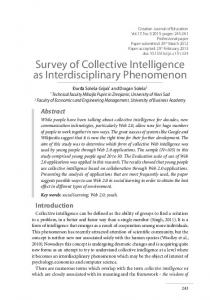 Survey of Collective Intelligence as