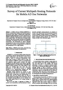 Survey of Current Multipath Routing Protocols for Mobile AD Hoc ...