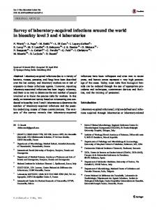 Survey of laboratory-acquired infections around the ...
