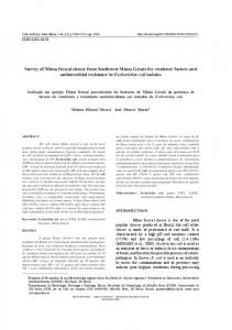 Survey of Minas frescal cheese from Southwest Minas Gerais ... - SciELO