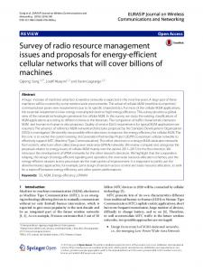 Survey of Radio Resource Management Issues and Proposals for ...