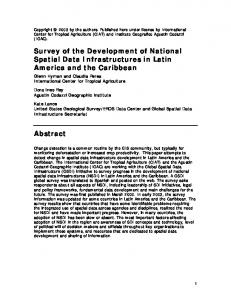 Survey of the Development of National Spatial Data ...