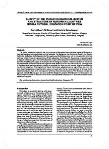 survey of the public educational system and ... - Semantic Scholar