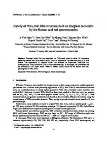 Survey of WO3 thin film structure built on ito/glass ...