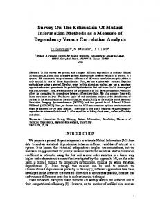 Survey On The Estimation Of Mutual Information Methods as a