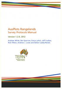 Survey Protocols Manual - TERN AusPlots