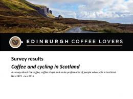 Survey results Coffee and cycling in Scotland