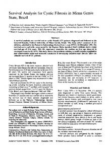 Survival Analysis for Cystic Fibrosis in Minas Gerais ... - Oxford Journals