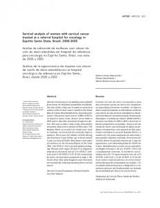 Survival analysis of women with cervical cancer