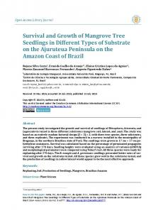 Survival and Growth of Mangrove Tree Seedlings in Different ... - OALib
