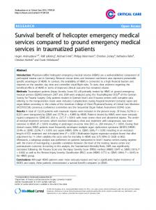Survival benefit of helicopter emergency medical