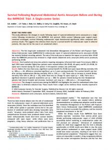 Survival Following Ruptured Abdominal Aortic Aneurysm ... - Core