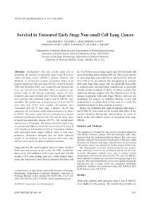Survival in Untreated Early Stage Non-small Cell Lung Cancer