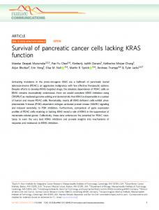 Survival of pancreatic cancer cells lacking KRAS function - Nature