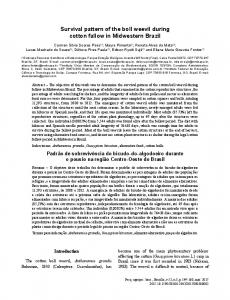 Survival pattern of the boll weevil during cotton fallow in ... - SciELO