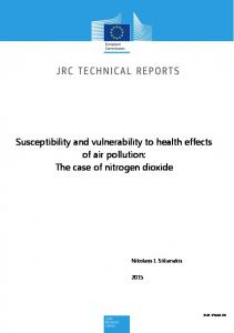 Susceptibility and vulnerability to health effects of air pollution: The