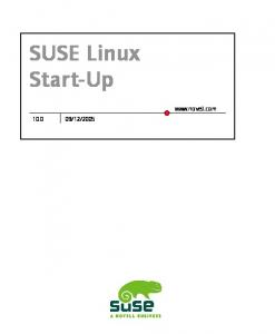 Suse Linux Startup Guide