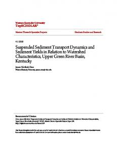 Suspended Sediment Transport Dynamics and ...