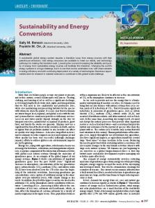 Sustainability and Energy Conversions